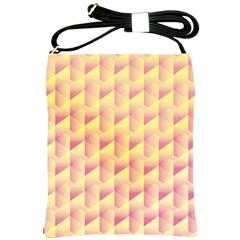 Geometric Pink & Yellow  Shoulder Sling Bag
