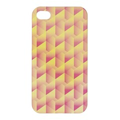 Geometric Pink & Yellow  Apple Iphone 4/4s Hardshell Case