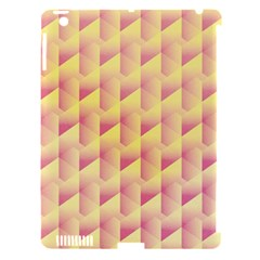 Geometric Pink & Yellow  Apple Ipad 3/4 Hardshell Case (compatible With Smart Cover)