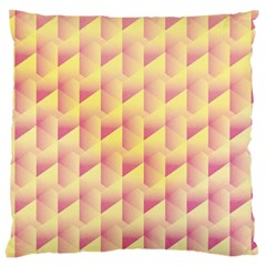 Geometric Pink & Yellow  Large Cushion Case (Two Sided)