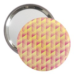 Geometric Pink & Yellow  3  Handbag Mirror