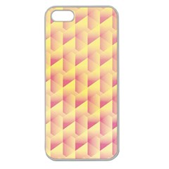 Geometric Pink & Yellow  Apple Seamless Iphone 5 Case (clear)