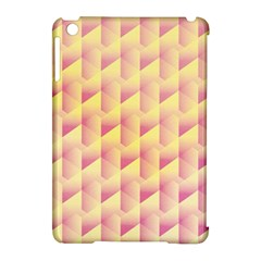 Geometric Pink & Yellow  Apple iPad Mini Hardshell Case (Compatible with Smart Cover)