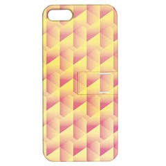 Geometric Pink & Yellow  Apple iPhone 5 Hardshell Case with Stand