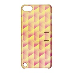 Geometric Pink & Yellow  Apple iPod Touch 5 Hardshell Case with Stand