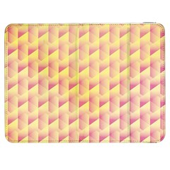 Geometric Pink & Yellow  Samsung Galaxy Tab 7  P1000 Flip Case