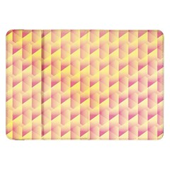 Geometric Pink & Yellow  Samsung Galaxy Tab 8.9  P7300 Flip Case