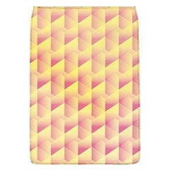 Geometric Pink & Yellow  Removable Flap Cover (Large)