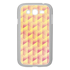 Geometric Pink & Yellow  Samsung Galaxy Grand DUOS I9082 Case (White)