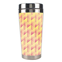 Geometric Pink & Yellow  Stainless Steel Travel Tumbler