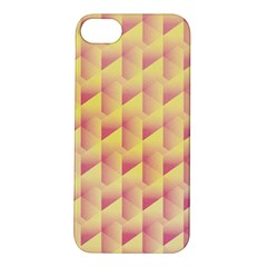 Geometric Pink & Yellow  Apple iPhone 5S Hardshell Case