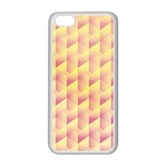 Geometric Pink & Yellow  Apple iPhone 5C Seamless Case (White)