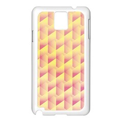 Geometric Pink & Yellow  Samsung Galaxy Note 3 N9005 Case (White)