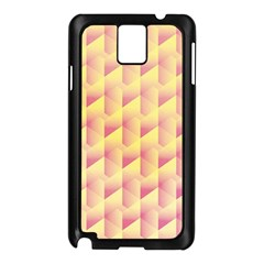 Geometric Pink & Yellow  Samsung Galaxy Note 3 N9005 Case (Black)