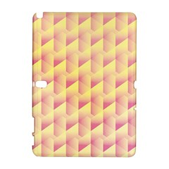Geometric Pink & Yellow  Samsung Galaxy Note 10 1 (p600) Hardshell Case