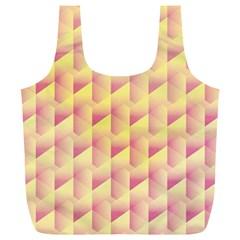 Geometric Pink & Yellow  Reusable Bag (XL)