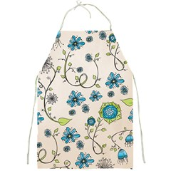 Whimsical Flowers Blue Apron