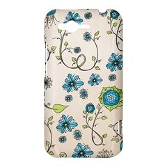 Whimsical Flowers Blue HTC Rhyme Hardshell Case