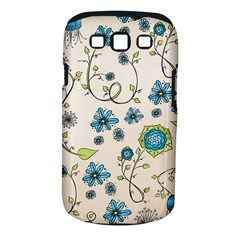 Whimsical Flowers Blue Samsung Galaxy S III Classic Hardshell Case (PC+Silicone)