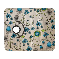 Whimsical Flowers Blue Samsung Galaxy S  III Flip 360 Case