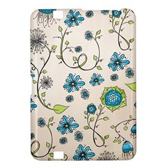 Whimsical Flowers Blue Kindle Fire HD 8.9  Hardshell Case