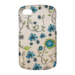 Whimsical Flowers Blue BlackBerry Q10 Hardshell Case