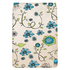 Whimsical Flowers Blue Removable Flap Cover (Small)