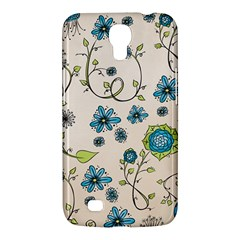 Whimsical Flowers Blue Samsung Galaxy Mega 6.3  I9200 Hardshell Case