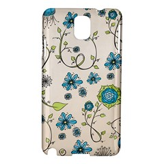 Whimsical Flowers Blue Samsung Galaxy Note 3 N9005 Hardshell Case