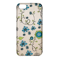Whimsical Flowers Blue Apple iPhone 5C Hardshell Case