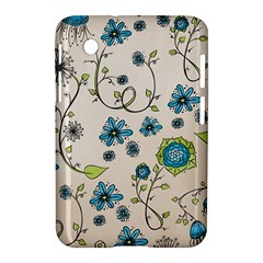 Whimsical Flowers Blue Samsung Galaxy Tab 2 (7 ) P3100 Hardshell Case