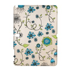 Whimsical Flowers Blue Samsung Galaxy Note 10.1 (P600) Hardshell Case