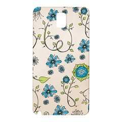 Whimsical Flowers Blue Samsung Galaxy Note 3 N9005 Hardshell Back Case