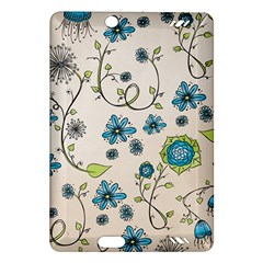 Whimsical Flowers Blue Kindle Fire Hd 7  (2nd Gen) Hardshell Case