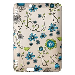 Whimsical Flowers Blue Kindle Fire Hdx 7  Hardshell Case