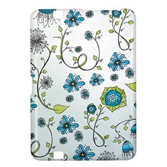 Blue Whimsical Flowers  on blue Kindle Fire HD 8.9  Hardshell Case