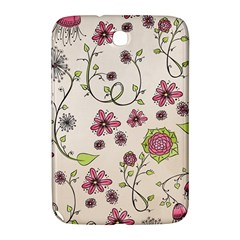 Pink Whimsical flowers on beige Samsung Galaxy Note 8.0 N5100 Hardshell Case