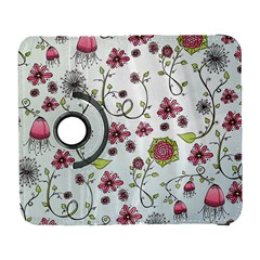 Pink Whimsical Flowers On Blue Samsung Galaxy S  Iii Flip 360 Case
