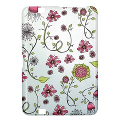 Pink whimsical flowers on blue Kindle Fire HD 8.9  Hardshell Case