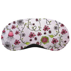 Pink whimsical flowers on pink Sleeping Mask