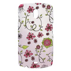 Pink whimsical flowers on pink Samsung Galaxy Nexus i9250 Hardshell Case