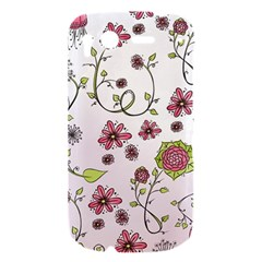 Pink whimsical flowers on pink HTC Desire S Hardshell Case