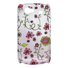 Pink whimsical flowers on pink Samsung Galaxy Nexus S i9020 Hardshell Case
