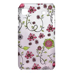 Pink whimsical flowers on pink Samsung Galaxy S i9008 Hardshell Case