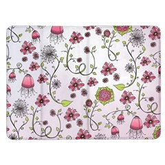 Pink whimsical flowers on pink Kindle Fire Flip Case