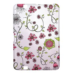 Pink whimsical flowers on pink Kindle Fire HD 8.9  Hardshell Case