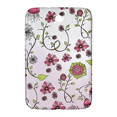 Pink whimsical flowers on pink Samsung Galaxy Note 8.0 N5100 Hardshell Case