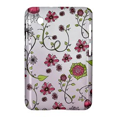 Pink whimsical flowers on pink Samsung Galaxy Tab 2 (7 ) P3100 Hardshell Case