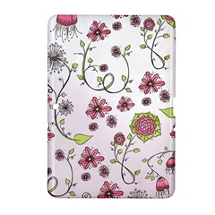 Pink whimsical flowers on pink Samsung Galaxy Tab 2 (10.1 ) P5100 Hardshell Case