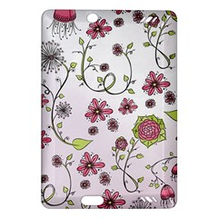 Pink Whimsical Flowers On Pink Kindle Fire Hd 7  (2nd Gen) Hardshell Case
